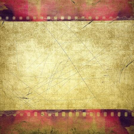 Struttura della striscia di pellicola rossa di Grunge Archivio Fotografico