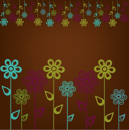 Beautiful sample from flowers Stock Vector - 13270276