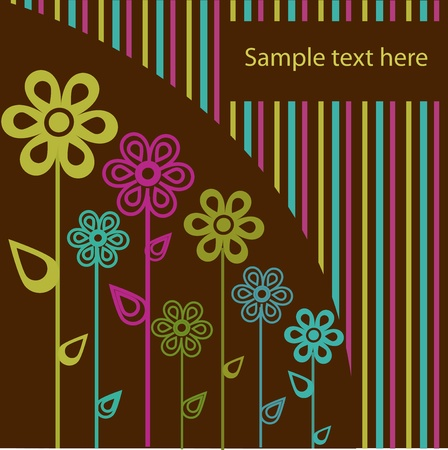 striped wallpaper: Beautiful sample from flowers Illustration