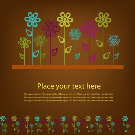 Beautiful sample from flowers Vector