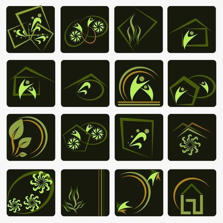 Set of Company symbols Vector