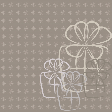 Gifts on a gray background Vector