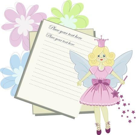 fantasia: Vector card for little princess