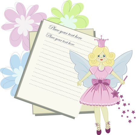 Vector card for little princess Vector