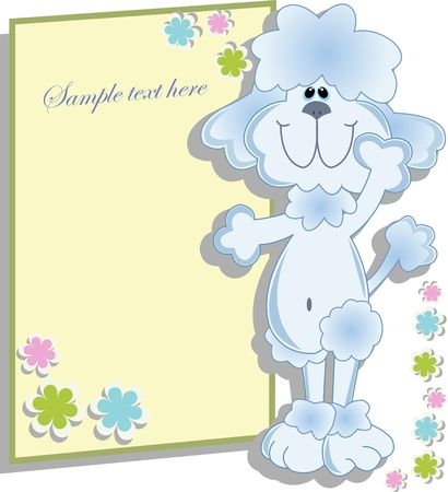 Blue ridiculous poodle Vector