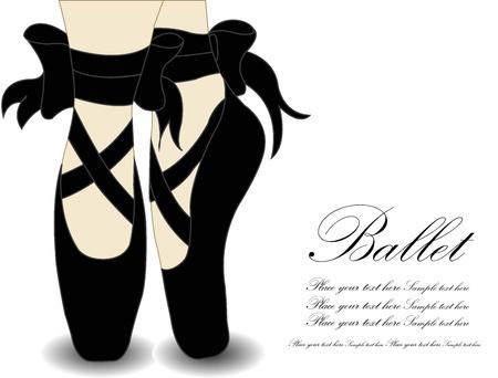 ballet dancing: Ballet Shoes, illustrazione vettoriale