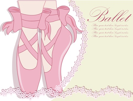 ballet slippers: Ballet shoes, Vector illustration