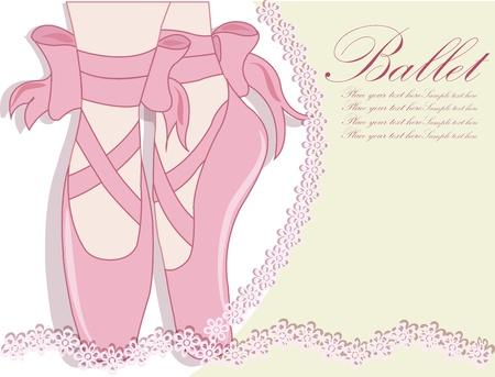 ballet slippers: Zapatillas de ballet, ilustraci�n vectorial
