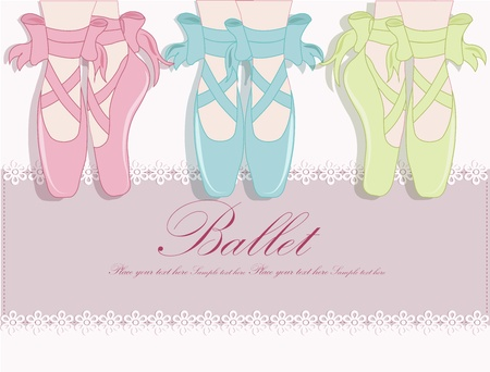 slippers: Ballet shoes, Vector illustration