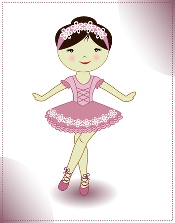Pretty girl is dancing ballerina Vector
