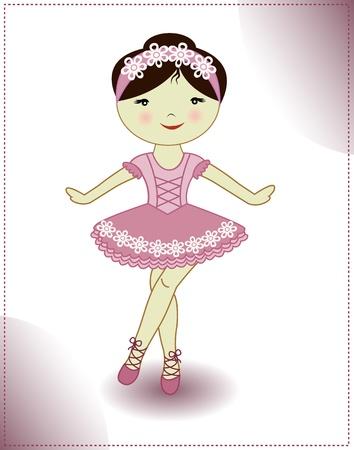 ballet slippers: Pretty girl is dancing ballerina