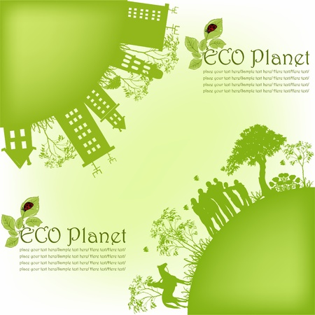 Green ecological planet Stock Vector - 13402101