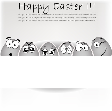 Set gray the eggs, expressing to emotion on a white background Stock Vector - 13402093