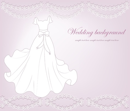 A beautiful wedding background Stock Vector - 13402126