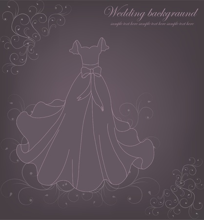 A beautiful wedding background Vector