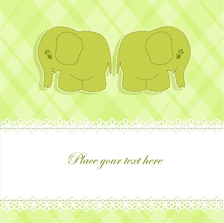 Baby card with elephants Vector