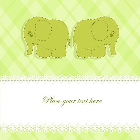 Baby-Karte mit Elefanten