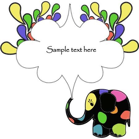 Fun colorful elephant Vector