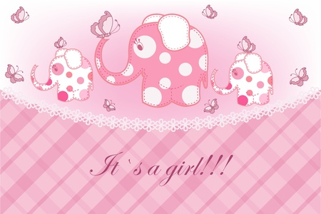 Beautiful childrens card for the girl Vector