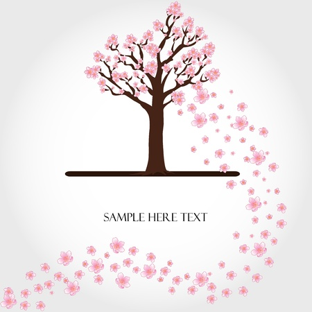 Flowering tree vector Vector