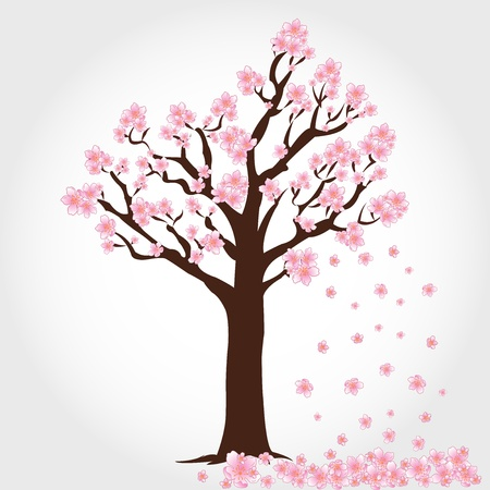 Flowering tree vector Stock Vector - 13620970