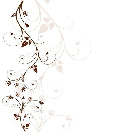 brown swirl: Beautiful, abstract floral background