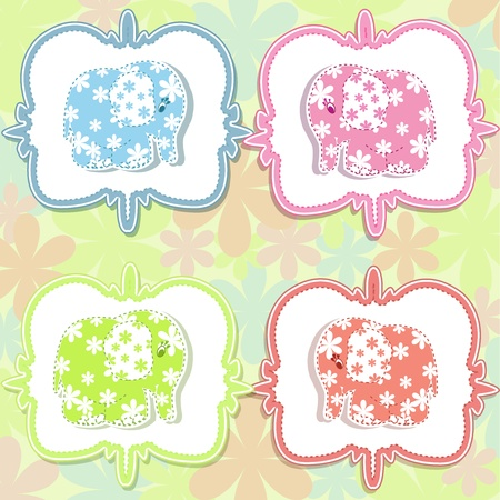A beautiful baby card Stock Vector - 14601933