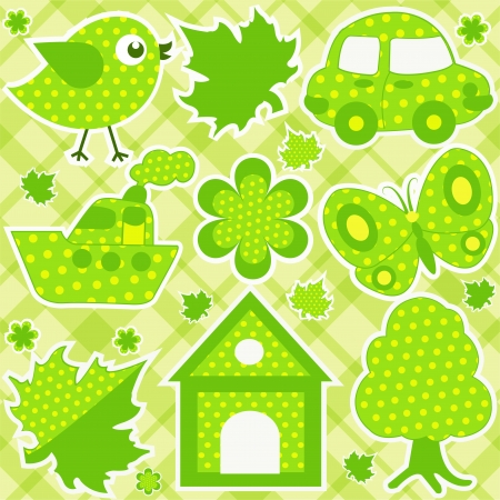 car leaf: Children set