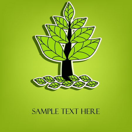 Beautiful  tree with green leaves Stock Vector - 14602030