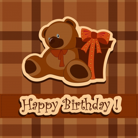 Holiday greeting card on his birthday Vector