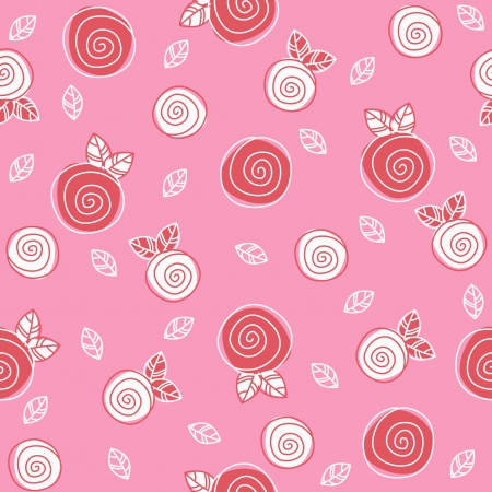 Sample texture with flowers on a pink background Vector