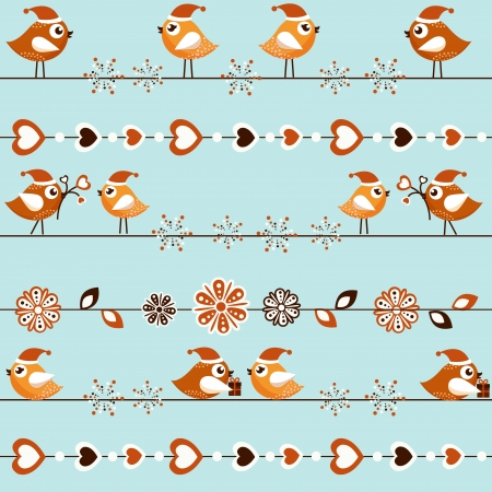 winter card: A beautiful Christmas card with the birds