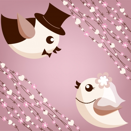 Bird s wedding  Vector