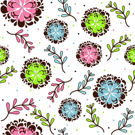 Floral pattern texture Vector