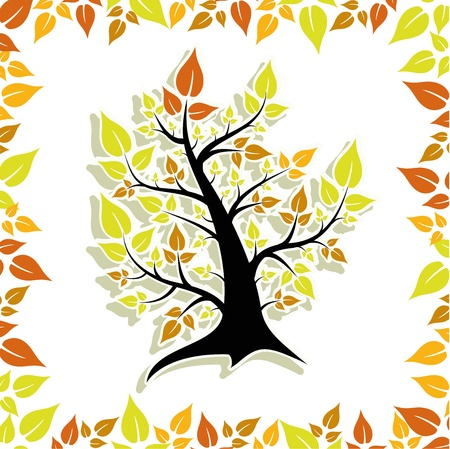 tree autumn Stock Vector - 14781328