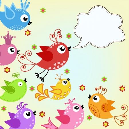 aves: coloridos, p�ssaros voando