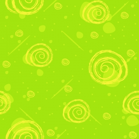 Sample texture with flowers on a green background Vector