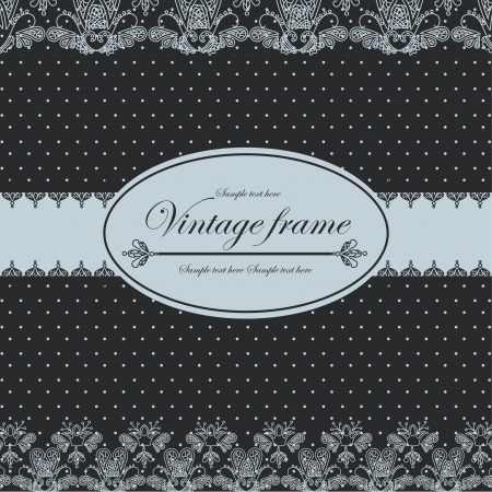 Template frame design for card  Vintage Lace Doily Vector