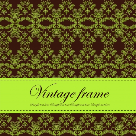 Template frame design for card Stock Vector - 14975345