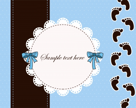 Beautiful card for baby boy Illustration