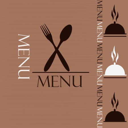 Sample menu for restaurant and cafe Vector