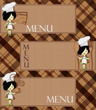 Ejemplo de menú para el restaurante y la cafetería
