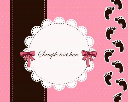 pie bebe: Hermosa tarjeta para el beb�