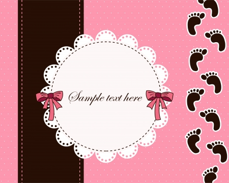 girl shower: Hermosa tarjeta para el beb�