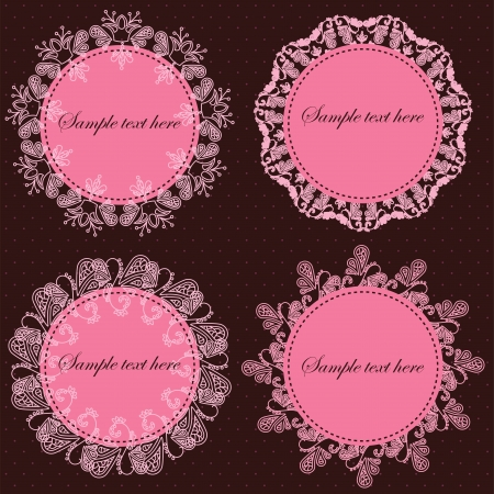 set of vintage frames  vector illustration Vector