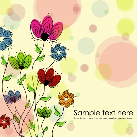 Multicolored flowers on a white background Illustration