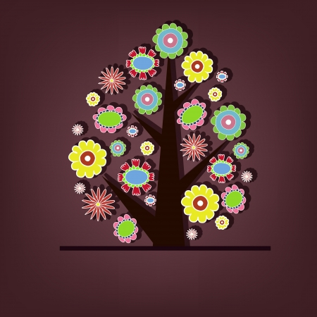 Beautiful tree with flowers Stock Vector - 15154026