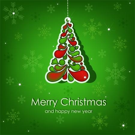 Beautiful vector Christmas card Stock Vector - 15234341