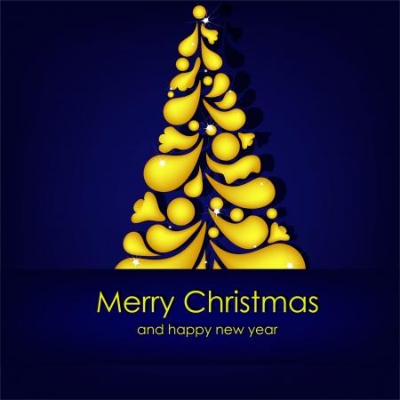 Beautiful Christmas card Stock Vector - 15234339