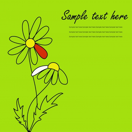 Beautiful card with daisies Stock Vector - 15314946